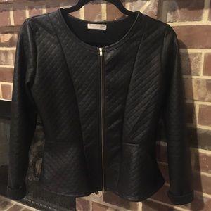 Agaci peplum black jacket